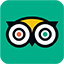 The logo of Tripadvisor which connects the website with the site of tripadvisor